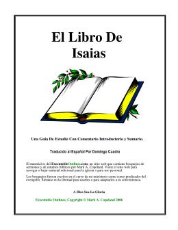 El Libro De Isaias
