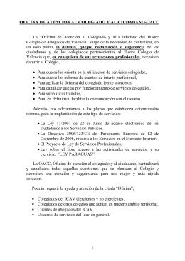 OFICINA DE ATENCIÓN AL COLEGIADO Y AL CIUDADANO