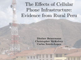 The Effects of Cellular Phone Infrastructure: Evidence from Rural Peru