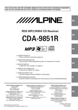CDA-9851R - Alpine Europe