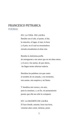 Francesco Petrarca, Poesías