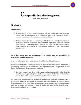 Didáctica general Intensivo-2011