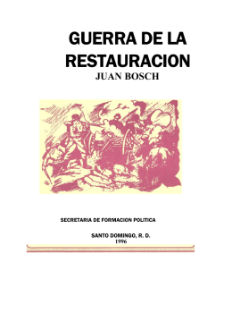 folleto Guerra de la Restauración
