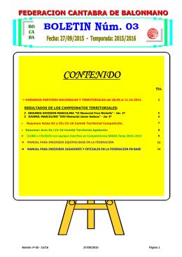 Boletin 03 - Federación Cántabra de Balonmano