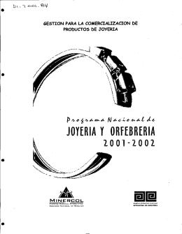 JOYERIA y ORFEBRERIA 2001-2002