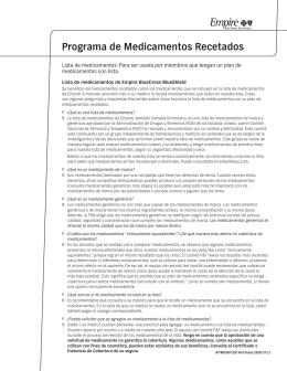 Programa de Medicamentos Recetados