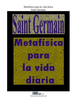Metafísica para la vida diaria Saint Germain