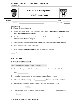Guía sexto examen parcial INGLÉS BÁSICO II