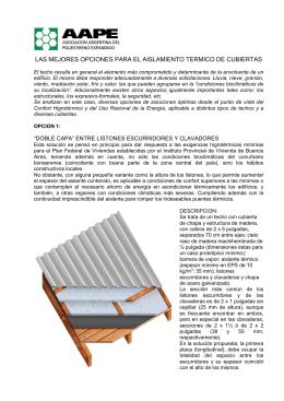 las mejores opciones para el aislamiento termico de cubiertas