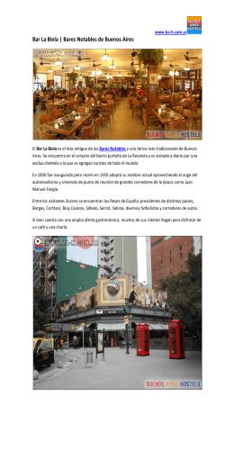 Bar La Biela | Bares Notables de Buenos Aires