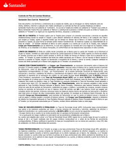 Contrato de Plan de Cuentas Rotativas Santander Zero Card de