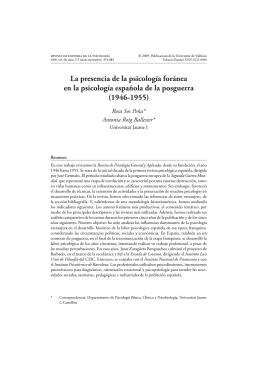 Texto Completo - Revista de Historia la Psicología