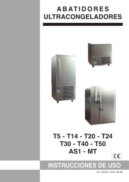 instrucciones de uso abatidores ultracongeladores t5