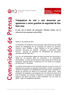 Amenazas aeropuerto de Son Sant Joan