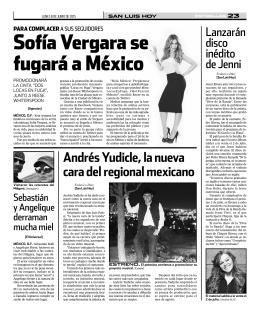 Sofía Vergara se fugará a méxico
