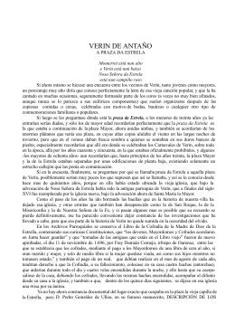 VERIN DE ANTAÑO, LA PLAZA DE LA ESTRELLA