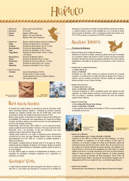Provincia de Huánuco - Ministerio de Comercio Exterior y Turismo