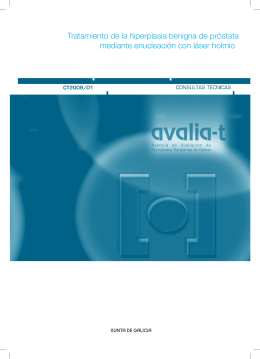 Tratamiento de la hiperplasia benigna de próstata - Avalia-t