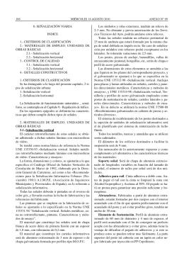 8.-SEÑALIZACIÓN VIARIA INDICE 1.