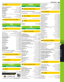 GUIA HOTELERA 183 - Paginas Amarillas de Latinoamérica