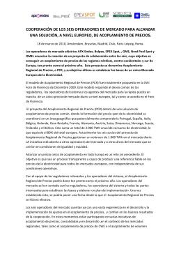 cooperación de los seis operadores de mercado para