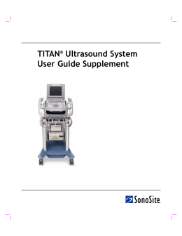 TITAN Ultrasound System User Guide Supplement