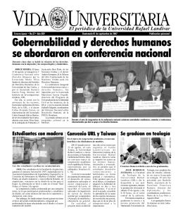 Gobernabilidad y derechos humanos se abordaron en conferencia