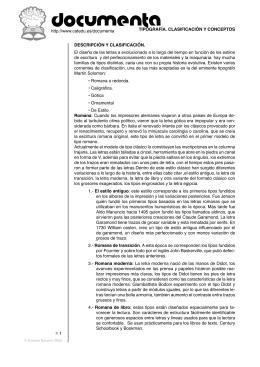 TIPOGRAFÍA. CLASIFICACIÓN Y CONCEPTOS 1 http://www.catedu