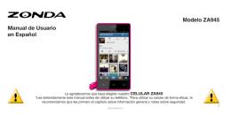 Manual de usuario en español Modelo ZA945