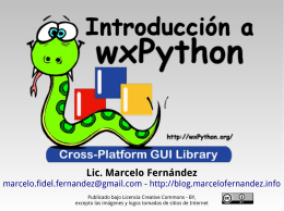 Introducción a wxPython