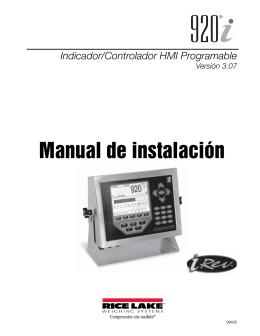 Manual de instalación - Rice Lake Weighing Systems