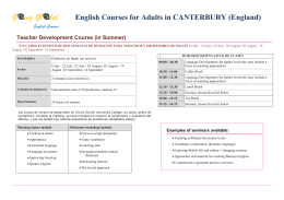 G ing Gl bal English Courses for Adults in CANTERBURY (England)