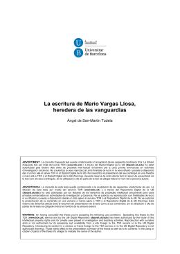 LA ESCRITURA DE MARIO VARGAS LLOSA,