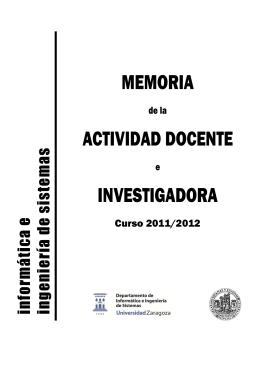 Curso 2011/2012 - DIIS - Universidad de Zaragoza