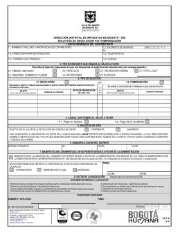 Formato de Solicitud de Devolución y/o Compensación 23-F.01