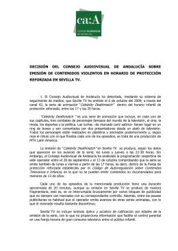 Descárgate la Decisión en PDF - Consejo Audiovisual de Andalucía