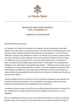 Cuaresma - La Santa Sede