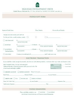 CTH Pledge Form06.qxd - Diocesan Development Drive