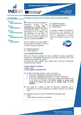 CONTENIDO INFORMACION DE LOS 5 ÒLTIMOS VIRUS