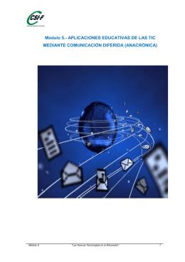 Módulo 5.- APLICACIONES EDUCATIVAS DE LAS TIC MEDIANTE