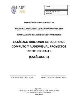 catálogo 1 - Dirección General de Finanzas