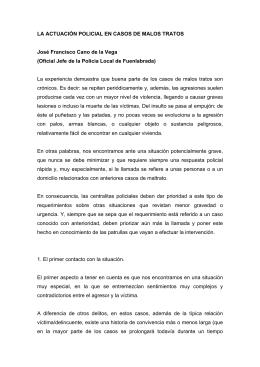 LA ACTUACIÓN POLICIAL EN CASOS DE MALOS TRATOS