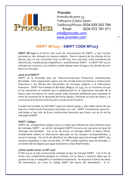 SWIFT MT103 – SWIFT CODE MT103