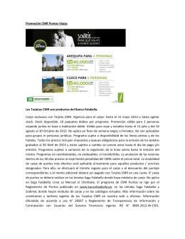 Promoción CMR Puntos Viajes Las Tarjetas CMR