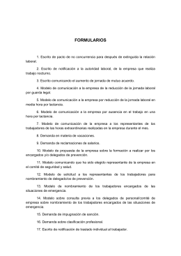 46 formularios de comunicación con la empresa - D