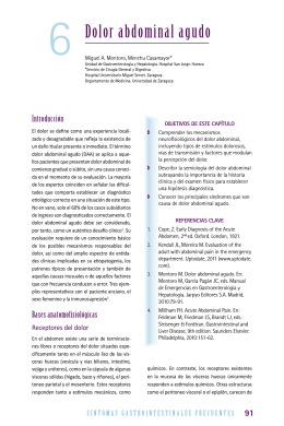 Dolor abdominal agudo - Asociación Española de Gastroenterología
