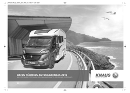 catálogo datos técnicos autocaravanas knaus 2015