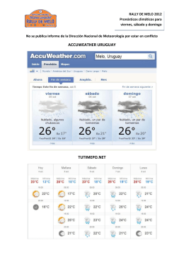 ACCUWEATHER URUGUAY TUTIMEPO.NET