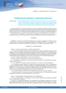 Higienista Dental - Boletín Oficial de Cantabria