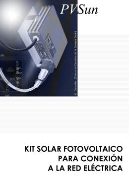 kit solar fotovoltaico para conexión a la red eléctrica